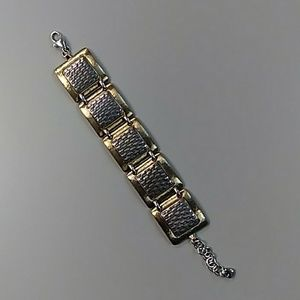 Brighton silver gold linked bracelet